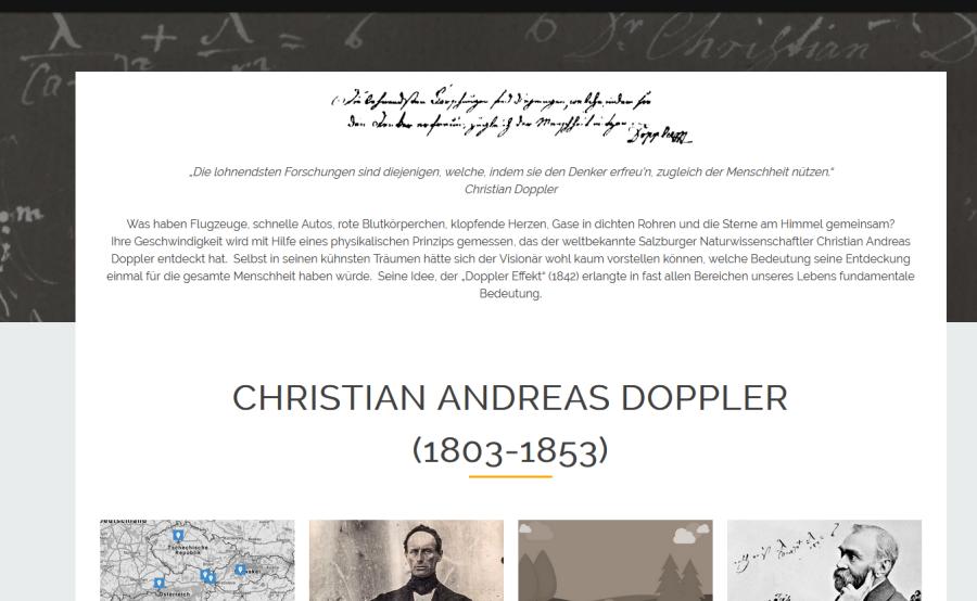 Cover: Christian Doppler Wissensplattform – Leben und Bedeutung von Christian Doppler