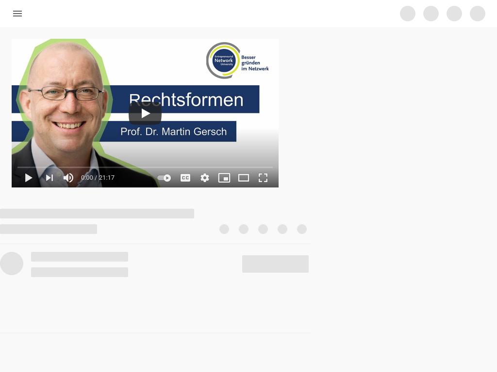 Cover: Rechtsformen - Prof. Dr. Martin Gersch - YouTube