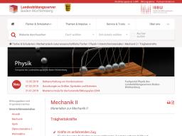 Cover: Mechanik II — Trägheitskräfte auf Schule BW