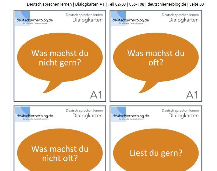 Cover: Dialogkarten A1   Teil 2/3