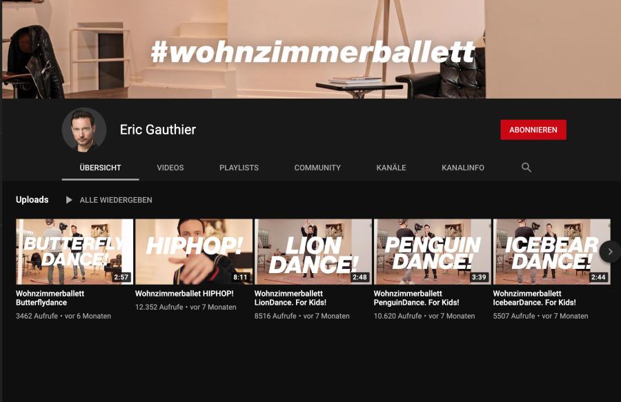 Cover: Eric Gauthier - Wohnzimmerballett