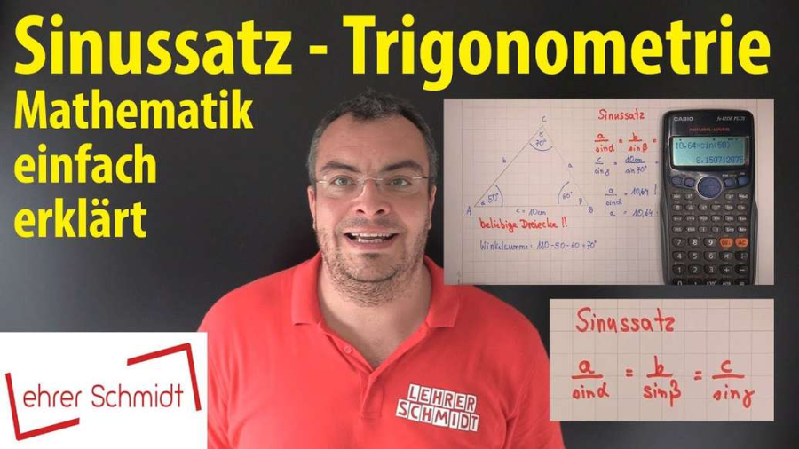 Cover: Sinussatz - Trigonometrie   Lehrerschmidt - einfach erklärt!