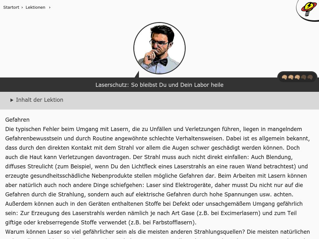 Cover: Laserschutz: So bleibst Du und Dein Labor heile