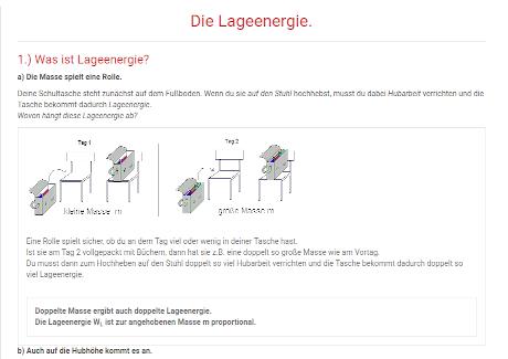 Cover: Die Lageenergie — Landesbildungsserver Baden-Württemberg