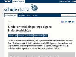 Cover: Kinder entwickeln per App eigene Bildergeschichten, App - Unterrichtsmaterial - schule digital - WDR