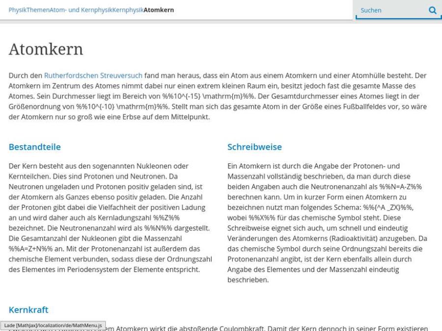 Cover: Serlo | Grundlegende Informationen zum Atomkern