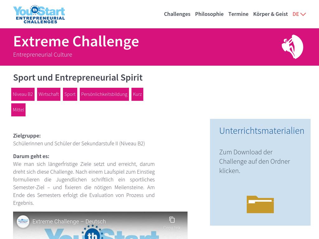 Cover: YouthStart - Sport und Entrepreneurial Spirit