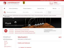 Cover: Mechanik II — Landesbildungsserver Baden-Württemberg