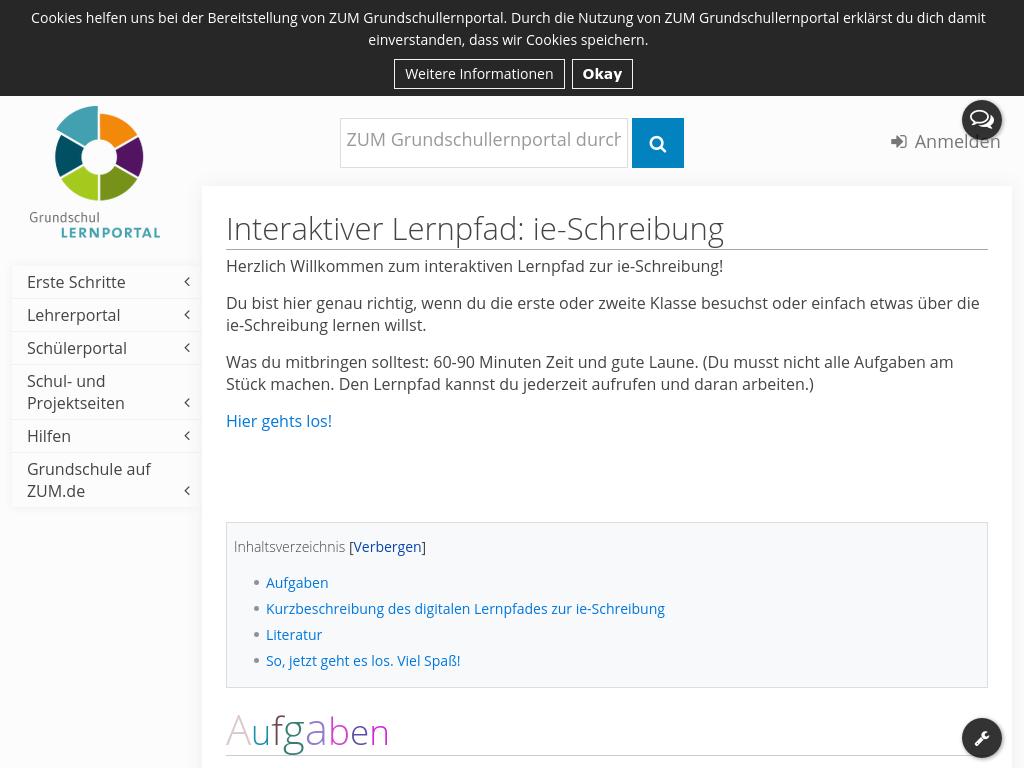 Cover: Interaktiver Lernpfad zur ie-Schreibung