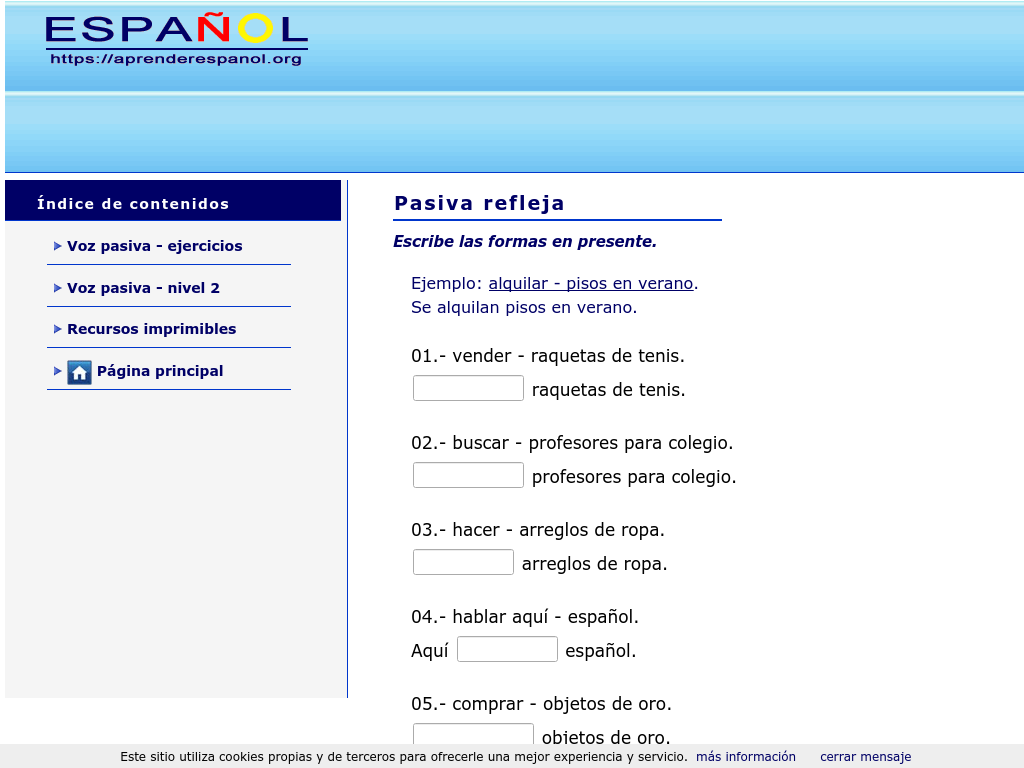 Cover: Pasiva refleja | Ejercicios