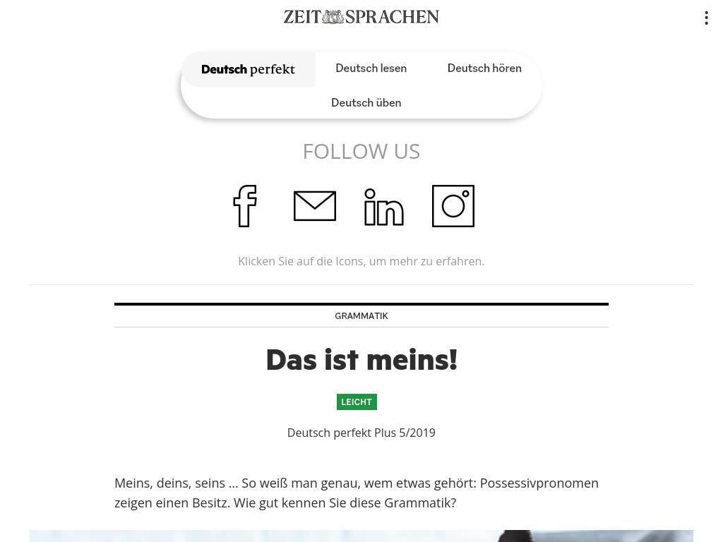 Cover: Die Possessivpronomen im Deutschen