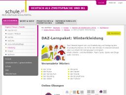 Cover: DAZ-Lernpaket   Winterkleidung