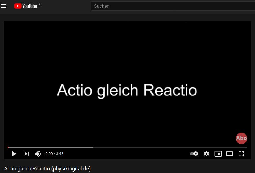 Cover: Actio gleich Reactio (physikdigital.de) - YouTube
