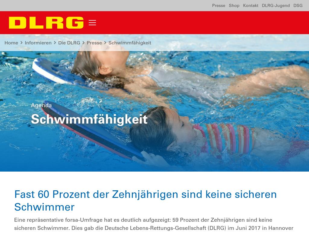 Cover: Schwimmfaehigkeit | DLRG e.V.