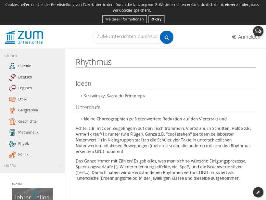 Cover: Rhythmus