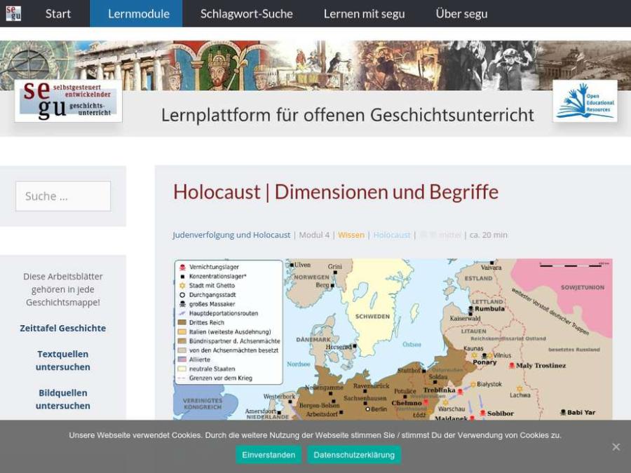Cover: Holocaust: ein Modul zur Dimension und Begriffen