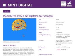 Cover: Modellieren lernen mit digitalen Werkzeugen - MINTdigital
