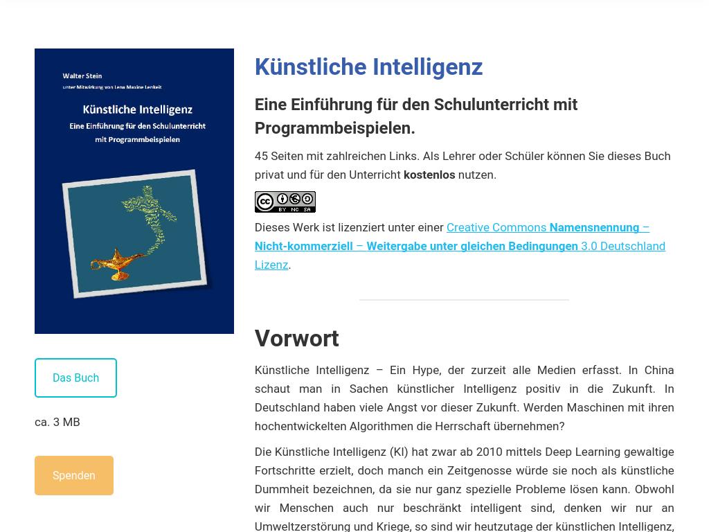 Cover: Steinphysik - Künstliche Intelligenz