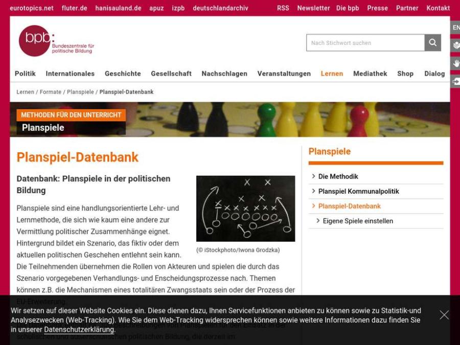 Cover: Planspiel-Datenbank