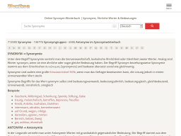 Woxikon | Online-Synonym-Wörterbuch