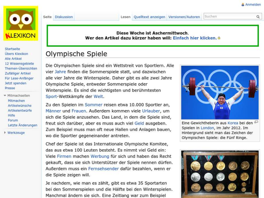 Cover: Olympische Spiele