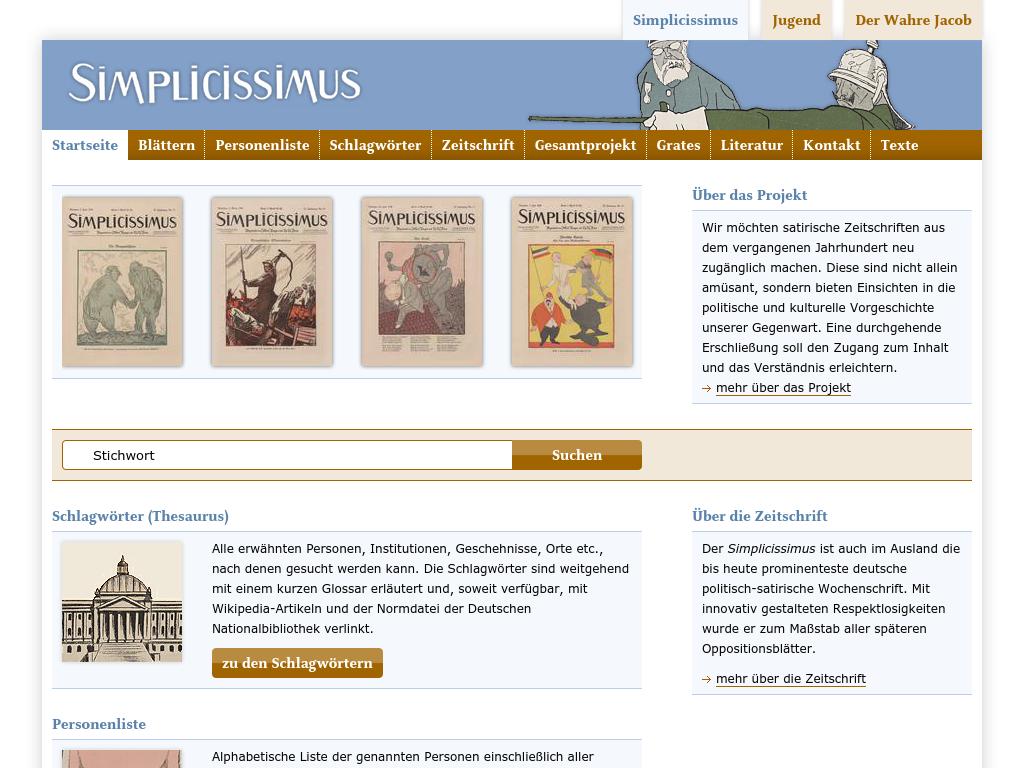 Cover: Simplicissimus·die historische Satirezeitschrift