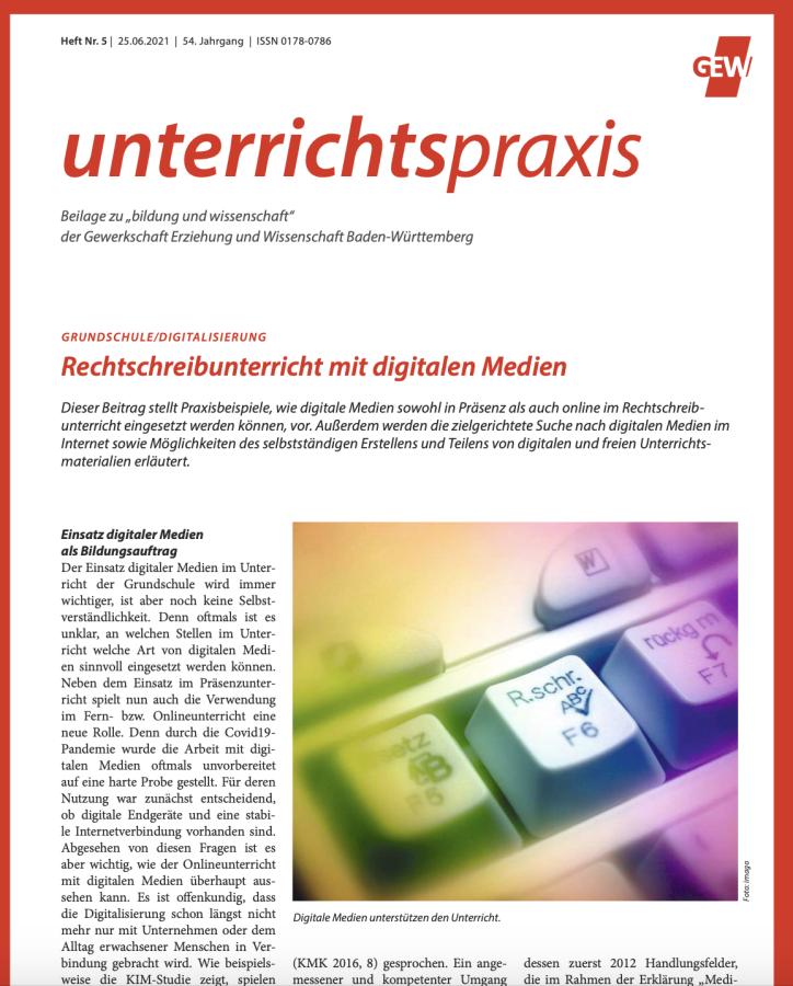 Cover: Rechtschreibunterricht mit digitalen Medien