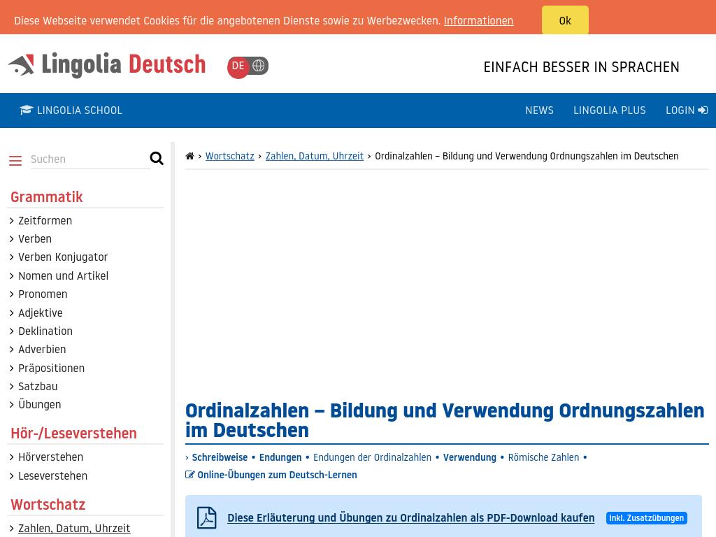 Cover: Ordinalzahlen | Bildung und Verwendung Ordnungszahlen im Deutschen