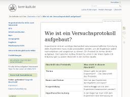 Cover: Wie ist ein Versuchsprotokoll aufgebaut? [herr-kalt.de]