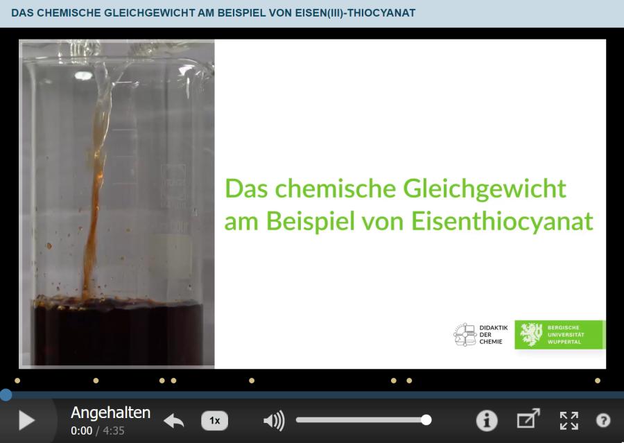 Cover: Das chemische Gleichgewicht am Beispiel von Eisen(III)-thiocyanat