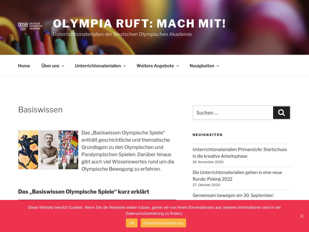 Cover: Basiswissen   Olympia ruft: Mach mit!
