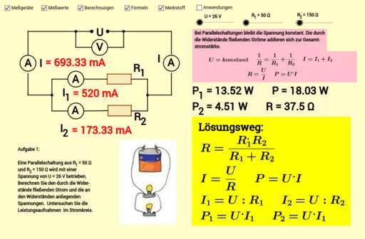 Cover: Parallelschaltung von Widerständen in Stromkreisen