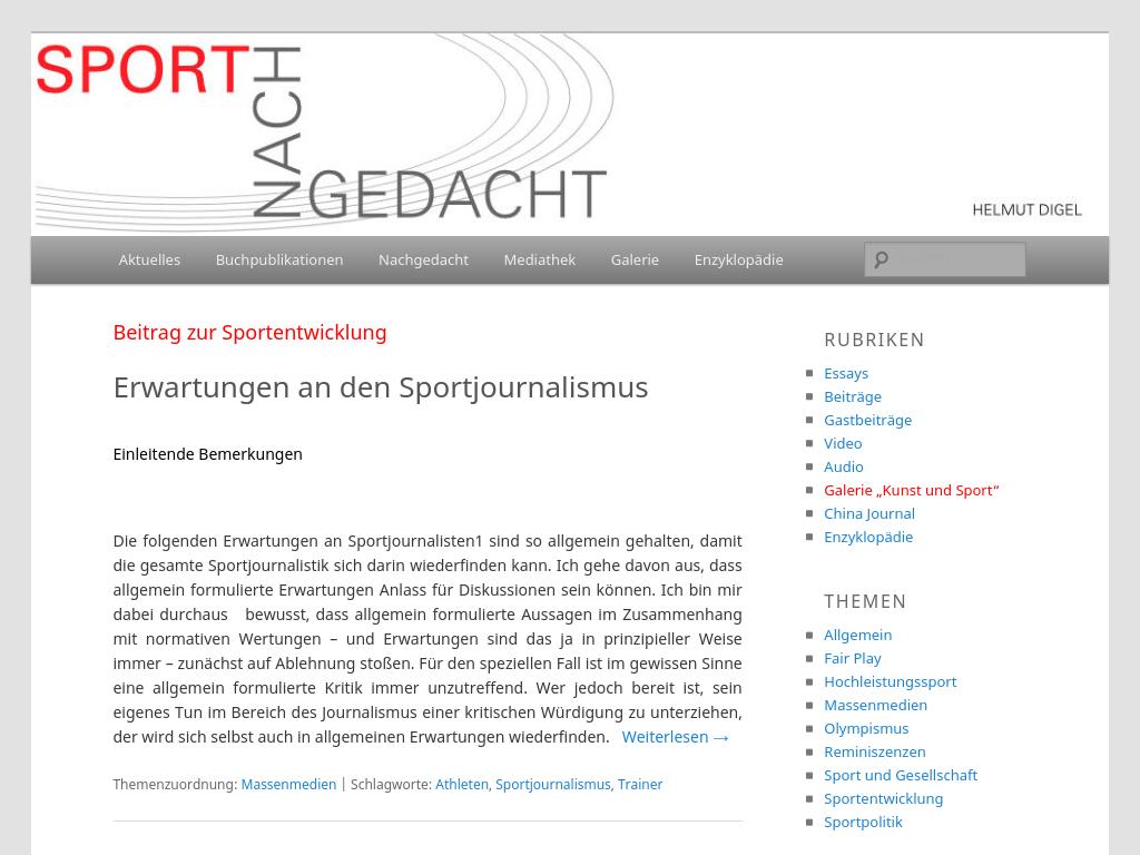 Cover: sport-nachgedacht.de