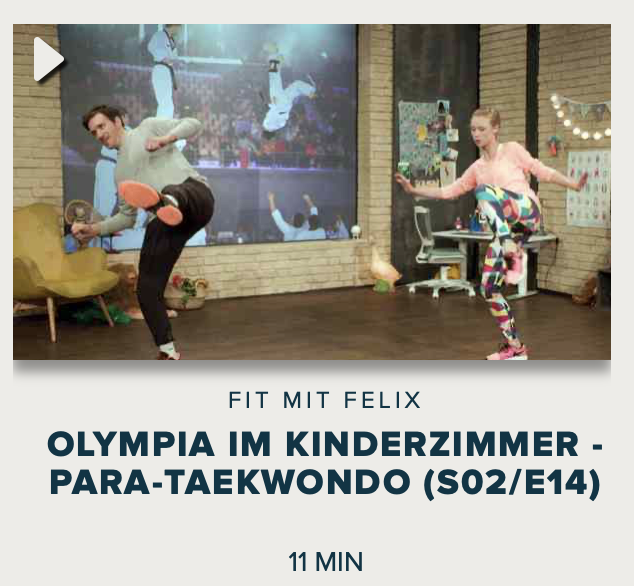 Cover: Fit mit Felix : Olympia im Kinderzimmer - Para-Taekwondo (S02/E14)