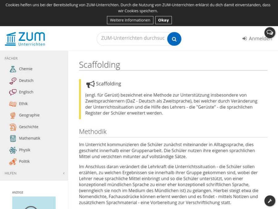 Cover: Methode I Scaffolding