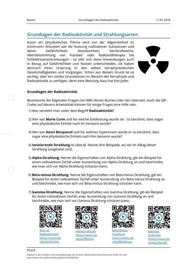 Cover: Grundlagen der Radioaktivität