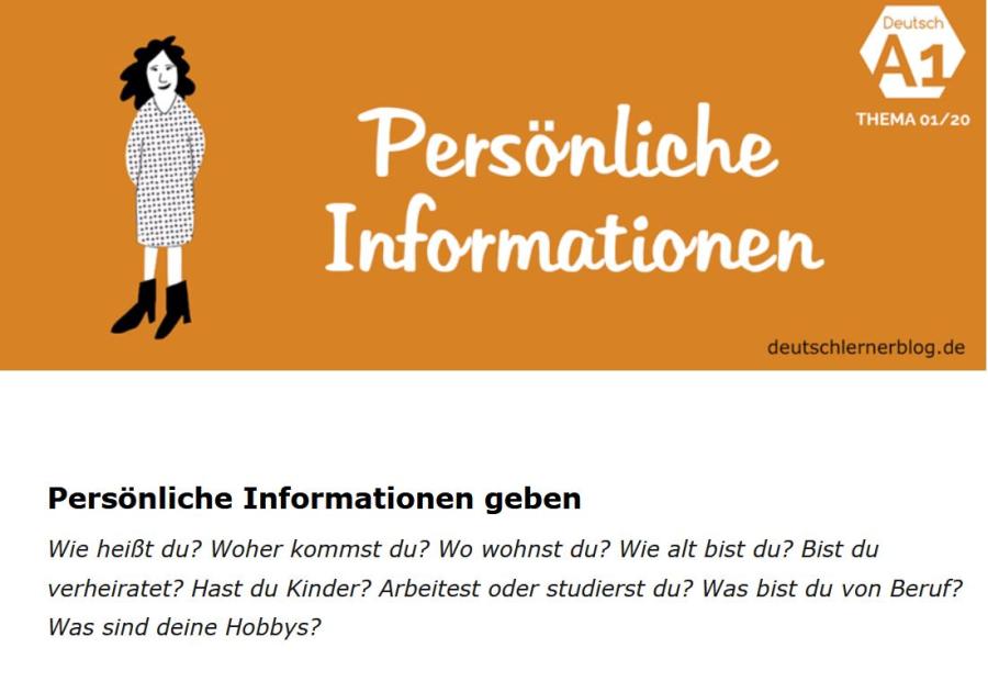 Cover: Persönliche Informationen geben