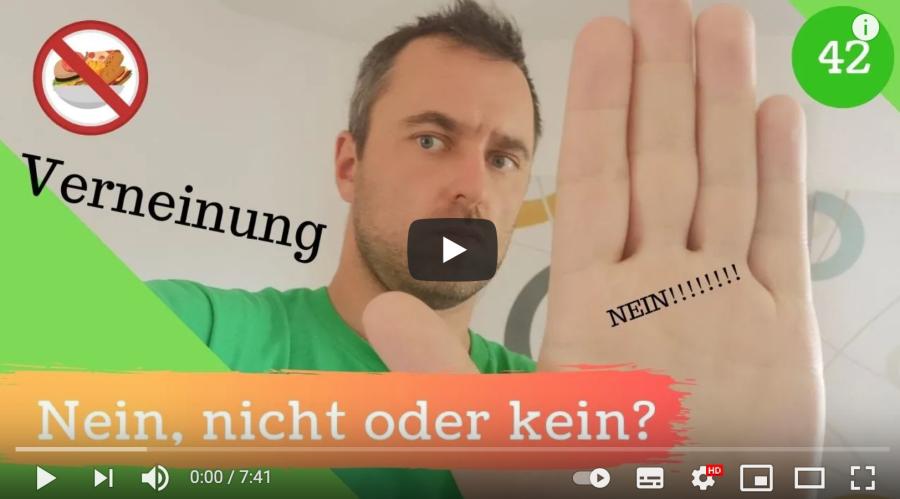 Cover: Deutsche Verneinung   NEIN, NICHT oder KEIN?