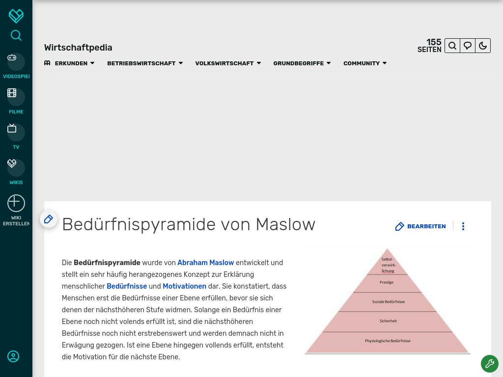 Cover: Bedürfnispyramide von Maslow   Wirtschaftpedia