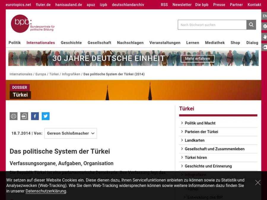 Cover: Das politische System der Türkei
